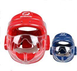 Head Protection Gear Australia - Top Brand Mma Karate Muay Thai Kick Training Helmet Boxing Head Guard Protector Headgear Sanda Taekwondo Protection Gear