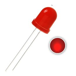 Diode Emitting Australia - 50 pcs 8mm Red LED Diode Lights (Colord Lens Diffused Round DC 2V 20mA) Lighting Bulb Lamps Electronics Components Light Emitting Diodes
