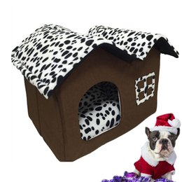 $enCountryForm.capitalKeyWord Australia - kennel Fashion Pet Cat House Warm Folding Kennel for Puppy Kitten Pet Dog Bed House with