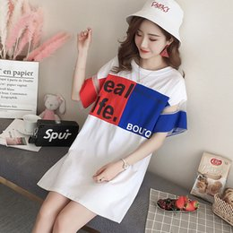 $enCountryForm.capitalKeyWord Canada - 163 Maternity Dress 2018 Summer Korean Version Pure Cotton Loose Comfortable Casual T-shirt Dress Pregnant Clothes