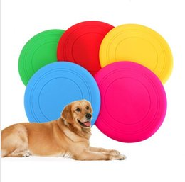 silicone toys NZ - Soft Flying Flexible Disc Tooth Resistant Outdoor Large Dog Puppy Pets Training Fetch chews Toy Silicone Dog Frisbee