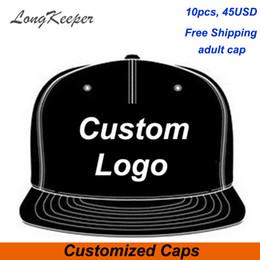 a7a2bd4f Customize Hats Australia - LongKeeper Wholesale 10PCS LOT Snap Back Adult  Embroidery Logo Customize Cap Custom