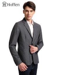 Discount hot male blazers - Hoffen 2017 Hot Sale Mens Suit Jacket Turn Down Collar Two Button Slim Fit Formal Blazer Jacket Male Bussines Suite MJ16