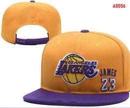 Factory outlet Новый 23 Джеймс шляпы ЛАЛ Лос-Анджелес Snapback шапки регулируемая все команды Бейсбол женщины мужчины Snapbacks высокое качество спортивная шляпа 003