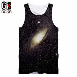 hiphop hombres chaleco al por mayor-OGKB Verano Tops Hombres Mujeres Camiseta sin mangas d Imprimir Starry Star Chaleco Hombre Hiphop Punk Sin mangas Camisetas Unisex Singlets XL