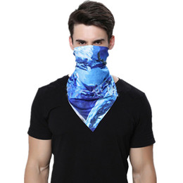 Discount head bicycles - CKAHSBI Unisex Outdoor Sports Magic Headband Cycling Bicycle Mask Neck Riding Hiking Face Mask Head Scarf Scarves Bandan