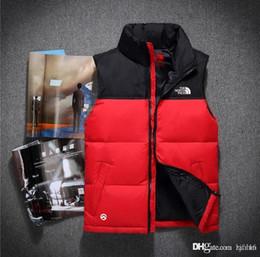 Großhandel 2018 neue Marke doppelsicht Hohe Qualität männer Daunenweste Daunenjacke Oberbekleidung Mantel dicke wintersportbekleidung Weste für männer