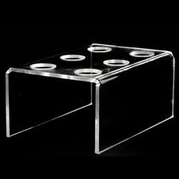 Decorating cupcake stanD online shopping - 6 Hole Acrylic Clear Cupcake Ice Cream Cone Display Holder Bakeware Stands Cake Shelf Wedding Birthday Party Decorating