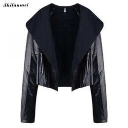 Chinese  Black PU Leather Jacket Women Autumn Winter Turn-Down Collar Jackets Ladies Fashion Plus Size Coat Long Sleeve Casaco Feminino manufacturers