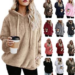 e462e8d72 Mujeres Sherpa Pullover Sudaderas con capucha Sudaderas de gran tamaño  Suéter Street Loose Street Otoño Invierno