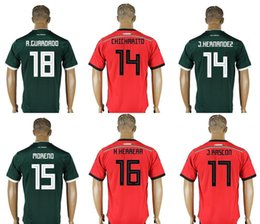 737d31ab23d Mexico  18 Andres Guardado 16 Hector Herrera 15 Hector Moreno 14 Javier  Hernandez Chicharito Mens Uniforms Football Shirts Soccer Jerseys