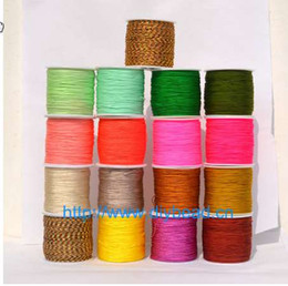 macrame bracelet connectors UK - 17 Colors Nylon Cords Thread Chinese Knot Macrame Cord Bracelet Braided String DIY Tassels Beading Jewelry Making String Thread