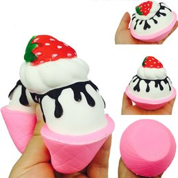 retail wholesales toys Australia - Squishy Strawberry ice cream Scented Charm Slow Rising Stress Reliever Toy For Relieves Stress Anxiety Home Decoration Toy Gift