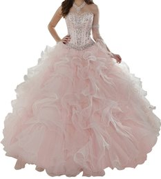 China Quinceanera Dresses Eugen gauze three pieces of mattresses, heart shaped, wrapped with lotus leaf, layered skirt, detachable, cheap postage. cheap cheap three floor dress suppliers