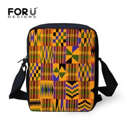 $enCountryForm.capitalKeyWord Canada - FORUDESIGNS African Traditional Art Crossbody Bags For Teenages Girls Retro School Messenger Bag Women Men Totes Dropshipping