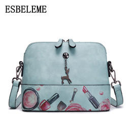 2018 new arrival women Faux leather Shell bags female pink blue printing  ladies small zipper crossbody shoulder bags YG356 2102f528dca85