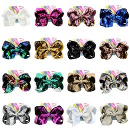 $enCountryForm.capitalKeyWord Australia - 20 Styles JOJO 8 Inch Bow Hair Clips Children's Sequin Hairpin Fish Scale Headdress Barrette Girls Kids Baby Hair Accessories Free DHL H942F