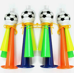 world cup toys NZ - World Cup Football Fans Cheer Horn for Kids Party Athletic Carnival Festivals Props Toy Cheerleading Horn Cheer Prop Toys