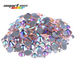 ae36f7942663 Champagne AB Hotfix Glass Rhinestones With Glue Backing Iron On Strass  Diamond For Clothes Shoes Dresses DIY Accessories