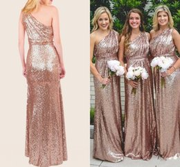 a17903ab Rose Gold Sequin Dress Plus Size Canada - Rose Gold Sequins Bridesmaid  Dresses 2018 Bling For