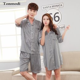 79e921f267 Pajamas For Couples Love Silk Pyjamas Men Women Pajamas Summer Sleepwear  Pajama Set Silk nightshirt Women