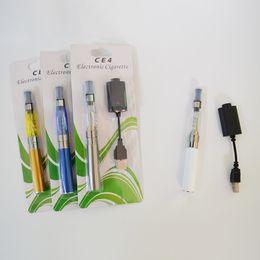 $enCountryForm.capitalKeyWord NZ - eGo-T CE4 Blister Kits E-cigarette Kits Colorful 650mah 510 Battery Vape Pen Cartridges USB Charger CE4 Vaporizer Starter Kit