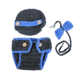 $enCountryForm.capitalKeyWord NZ - 3pcs Newborn Baby Cute Crochet Knit Costume Set Prop Outfits for 0-2 Months
