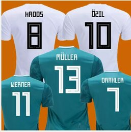 Discount germany world cup jersey - MULLER OZIL soccer jersey DRAXLER 2018 WORLD CUP KROOS HUMMELS WERNER SANE jersey football kit shirt camiseta alemania K