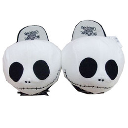 Chinese  High quality Soft peluche Plush Slippers toy Cosplay Halloween Jack Skellington Nightmare Before Christmas Wacky Winter Shoes manufacturers