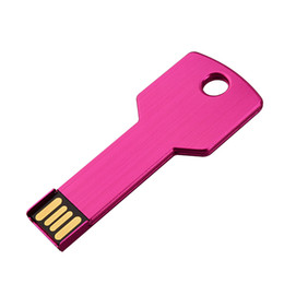 Flash Drive Pen Sticks Australia - Pink Metal Key 64GB USB 2.0 Flash Drives High Speed Flash Pen Drives Thumb Memory Stick Enough Storage for Computer Laptop Macbook Tablet
