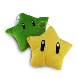Chinese  Super Mario Star plush Toys Doll cushion Mario star man plush Five Plush Dolls Free Shipping EMS manufacturers