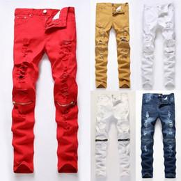 9115da0f403c9 Rote Zerrissene Dünne Jeans Online Großhandel Vertriebspartner, Rote ...