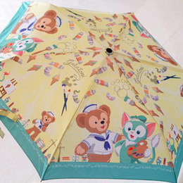 Duffy Bear Friends Stellalou Rabbit Gelatoni Japanese Anime Plush Toy Cartoon Umbrella Sunshade For Girls Female Birthday Gifts