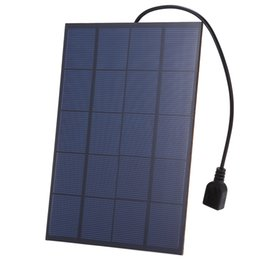 Wholesale solar panels 5W online shopping - 5Pcs W V Polycrystalline USB Output Solar Cell Panel with Regulator Kit PET Encapsulated Solar Panel for Cellphone Powerbank