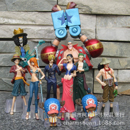 Zoro nami one piece online shopping - 10Pieces One piece Luffy Zoro Chopper nami Years Later Japanese Anime Action Figure PVC New Collection figures toys Collection