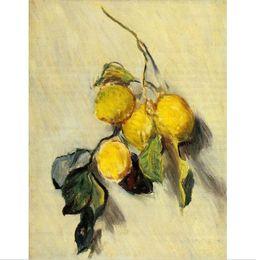 Art Dreams Canvas Print NZ - Dream-art Handpainted & HD Print Art Oil Painting Claude Monet - Branch of Lemons,Wall Art On High Quality Canvas Multi Size f03