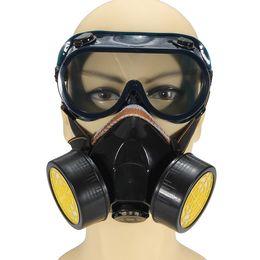 Vasos MÁSCARA caliente anti-polvo respirador de la pintura Máscara Gafas de seguridad de gas Química Industrial Protección de gas en venta