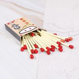 $enCountryForm.capitalKeyWord NZ - 20 Pcs lot novelty matchstick ballpoint pen joke school supplies match pens stationery New Sale