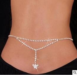 venda por atacado Amor coração carta querida diamante Cintura corpo jóias barriga Cadeia da noiva do casamento do ventre barriga cadeias de jóias biquíni para as mulheres