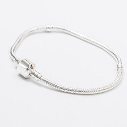 $enCountryForm.capitalKeyWord UK - Mix Size Plated Silver Retro Bracelet 17CM-23CM Snake Chains DIY Jewelry Accessories Fit European Style Beads Wholesale DHL Free