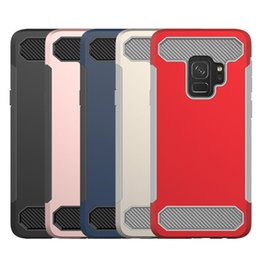 Customized promotion online shopping - Big Promotion Phone Cases Clean Up Inventory Carbon Fiber Hybird Soft TPU Hard PC Back Cover for Samsung S9 S9 plus