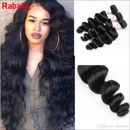 $enCountryForm.capitalKeyWord Australia - Brazilian Remy Loose Wave Human Hair Bundles Bulk Rabake 8-28 inch Hair Weave Extensions 100% Unprocessed Cuticle Aligned Hair Bundle Deals
