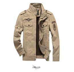 f8e2d436163e7 Mens Green Khaki 3 colors Military Jacket Winter Cargo Plus Size M-6XL Casual  Man Jackets Army Clothes Brand High Grade With Pocket for Men