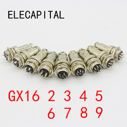 Gx16 Connector Australia - GX16-2 3 4 5 6 7 8 9 Pin Male & Female Diameter 16mm Wire Panel Connector GX16 Circular Connector Aviation Socket Plug