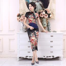 $enCountryForm.capitalKeyWord Australia - Plus Size 6XL Chinese Women Cheongsam Lady Qipao BLACK Print Flower Long Dress Bride Wedding Dresses Elegant Gown Vestidos