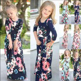 Kid Baby Girl Floral Maxi Boho Dress Long Sleeve Holiday Party Princess Sundress