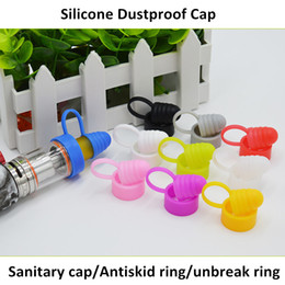 One rba online shopping - Universal Drip Tip Silicone Sanitary Cap Antiskid Ring Dustproof Prevent Slippery Drop one Silicone Cap Fit RDA RBA Atomizer Tank Mod