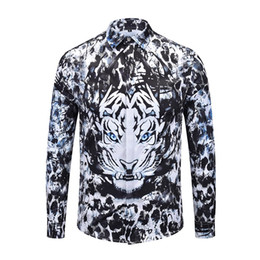 england shirts NZ - 2018 New Luxury Men Long Sleeve Cotton Casual Shirts Designer 3D Slim Fit Fashion England Shirts on Sale M-XXXL 90106