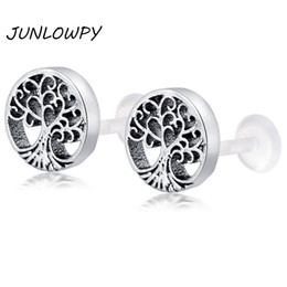 $enCountryForm.capitalKeyWord NZ - Bioflex Push in Labret stud Monroe Lip Tragus Piercing Retainer Body Jewelry New Design Helix Earring