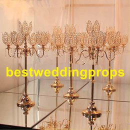 $enCountryForm.capitalKeyWord Canada - New style Decorative gold plated candle holder wedding flower stand best0455